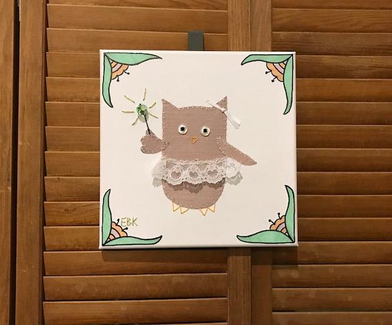 Fairy Owl #12 Fabric Wall Art