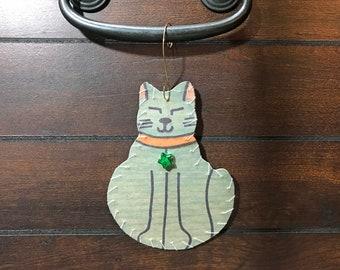 Ornament-Large Cat #15-Cat Friendly!
