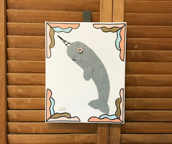 Narwhal #4 Fabric Wall Art