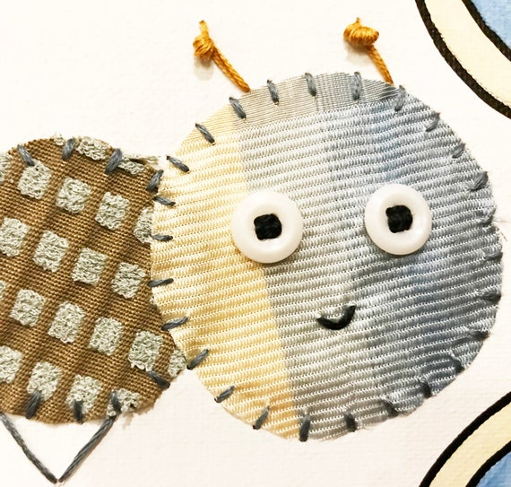 Baby Inchworm #41 Fabric Wall Art