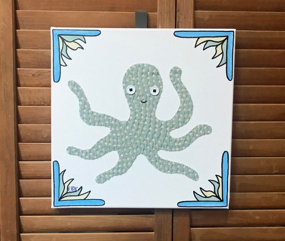 Octopus #3 Fabric Wall Art