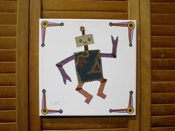 Robot #3 Fabric Wall Art
