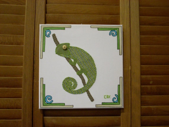 Chameleon #1 Fabric Wall Art