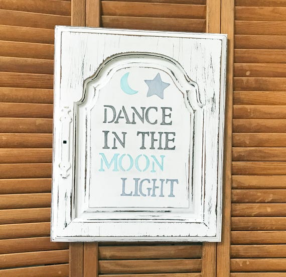 Dance in the Moonlight Cabinet Door Salvage Art