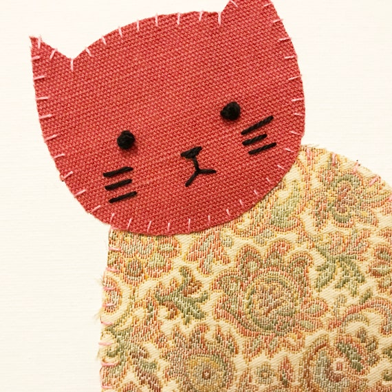 Sitting Cat #7 Fabric Wall Art