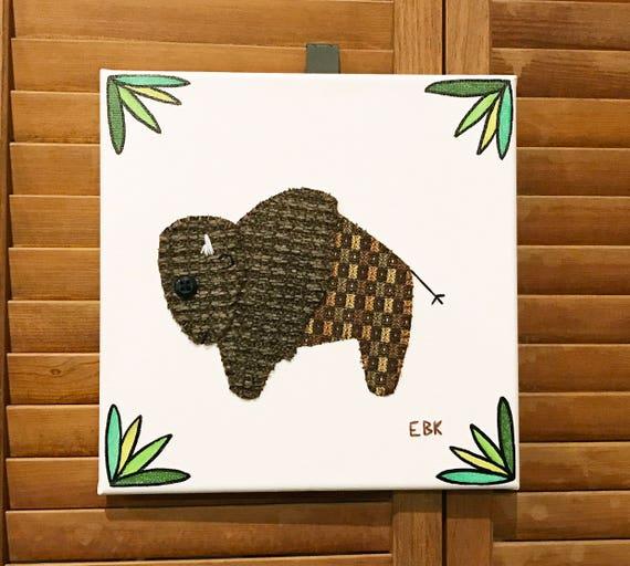 Bison #1 Fabric Wall Art