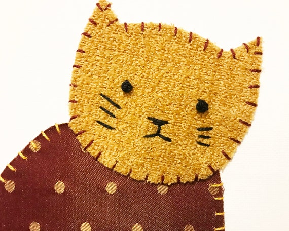Sitting Cat #8 Fabric Wall Art