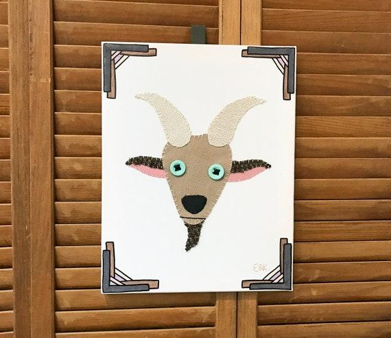 Goat Head #3 Fabric Wall Art