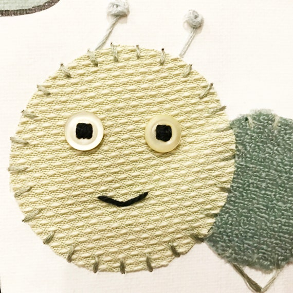 Baby Inchworm #25 Fabric Wall Art