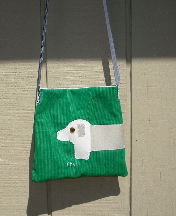 Dachshund #3 Fabric Art Small Tote