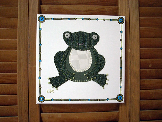 Frog #3 Fabric Wall Art