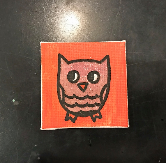 Owls 2018 #8 Tiny Magnet Original Illustration