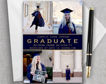 college graduation invitation etsy