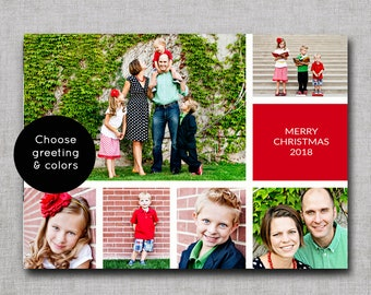 photo christmas card christmas cards photo holiday cards photo cards printable christmas card personalized costco size or 5x7
