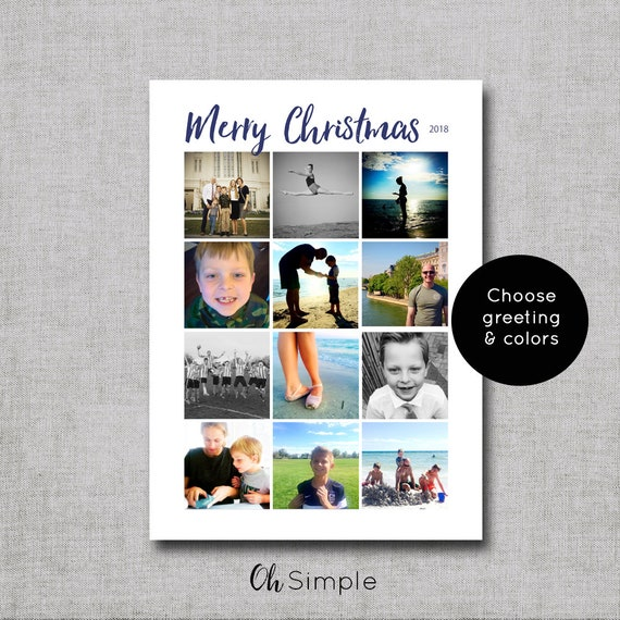 Christmas photo card instagram holiday card photo etsy image 0 m4hsunfo