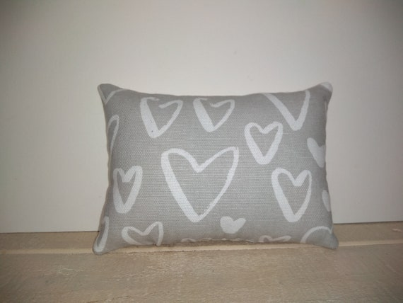 FREE SHIPPING! Love you sis Small Pillow with Heart Approximately  5 X 5.5 Machine Embroidered