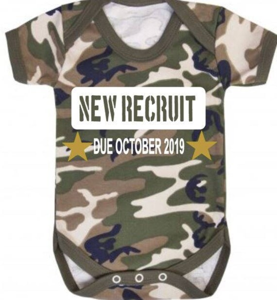 Camouflage Baby Bodysuit Baby Vest ARMY Camo Baby