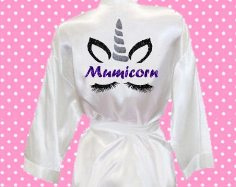 bf9ff33fca7a Mumicorn unicorn face glitter sparkle print silk satin style | Etsy