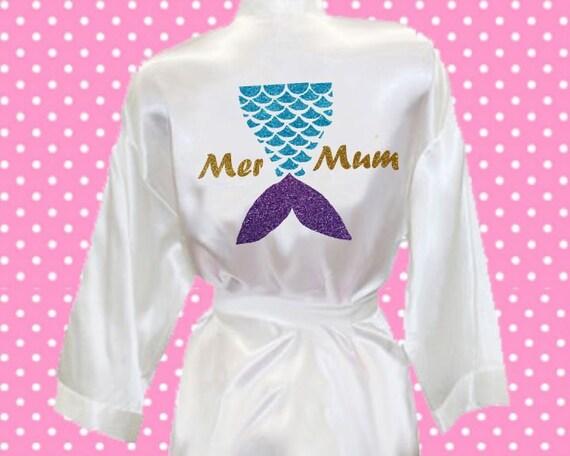 Mermum Mer Mum mermaid tail glitter sparkle print silk satin  4be5c37c7ac3