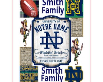 Custom personalized Notre Dame football themed blanket-throw for 953b43300