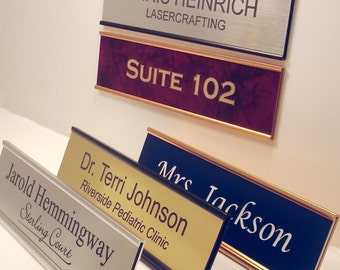 """Personalized Office Name Plate With Holder (2""""x8"""")"""