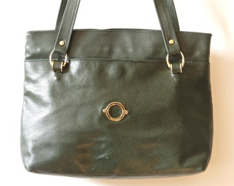 7add3826c8d Green leather bag   Etsy
