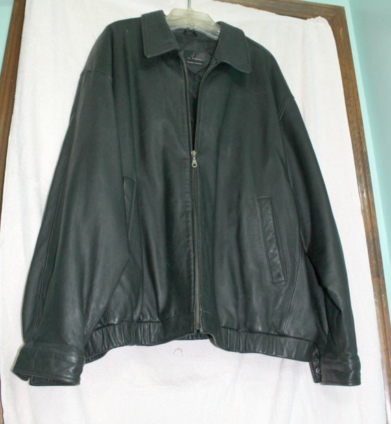 4XL Mens Leather Jacket,Big Tall Mens Lambskin Jac