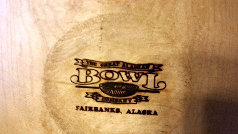 15» Wood Salad Bowl, Wood Bowl and Spoons, Alaska Wooden Bowl, Large Wood Bowl, Wood Salad Bowl, Wood Salad Bowl, Birch Salad Bowl, Wooden Bowl