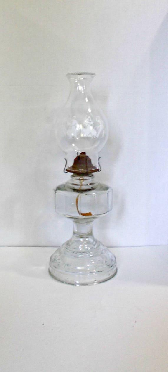 Effacer La Lampe A Huile Petrole Eapg Verre Kerosene Lampe A Etsy