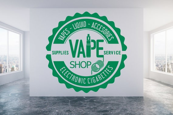 Vape Shop E-cig Vaping sign Wall//Window decal sticker art Any colour//size