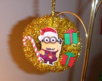 minion ornament christmas ornament wreath ornament