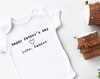 Father's Day Onesie® First Fathers Day, Father's Day Baby Bodysuit, Custom Onesie® Personalized 1st Father's Day Gift