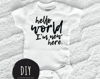 327735656 Coming Home Outfit Hello World I m New Here Baby