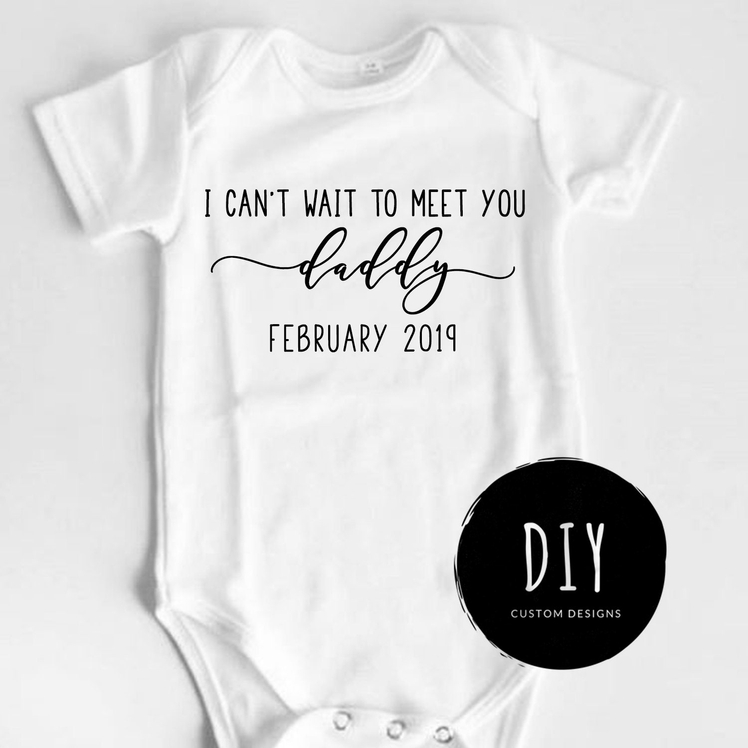 eaa5c54662964 Daddy Reveal Onesie®, Pregnancy Reveal, Baby Announcement Onesie®, Reveal to  Husband, Going to be a Dad, Announcement to Husband, Pregnant