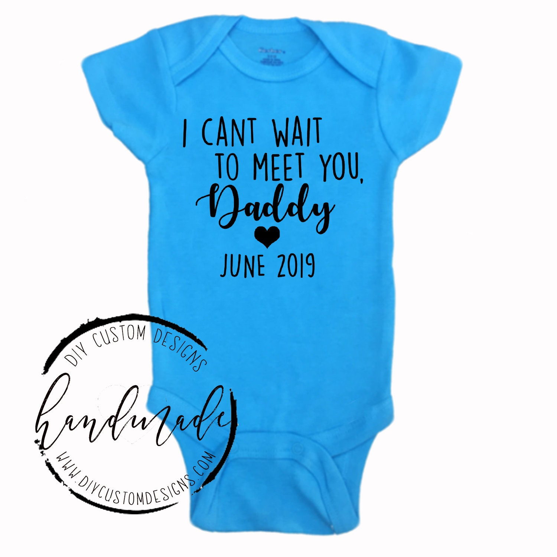 Gender Reveal to Husband, Baby Boy Announcement Onesie ...