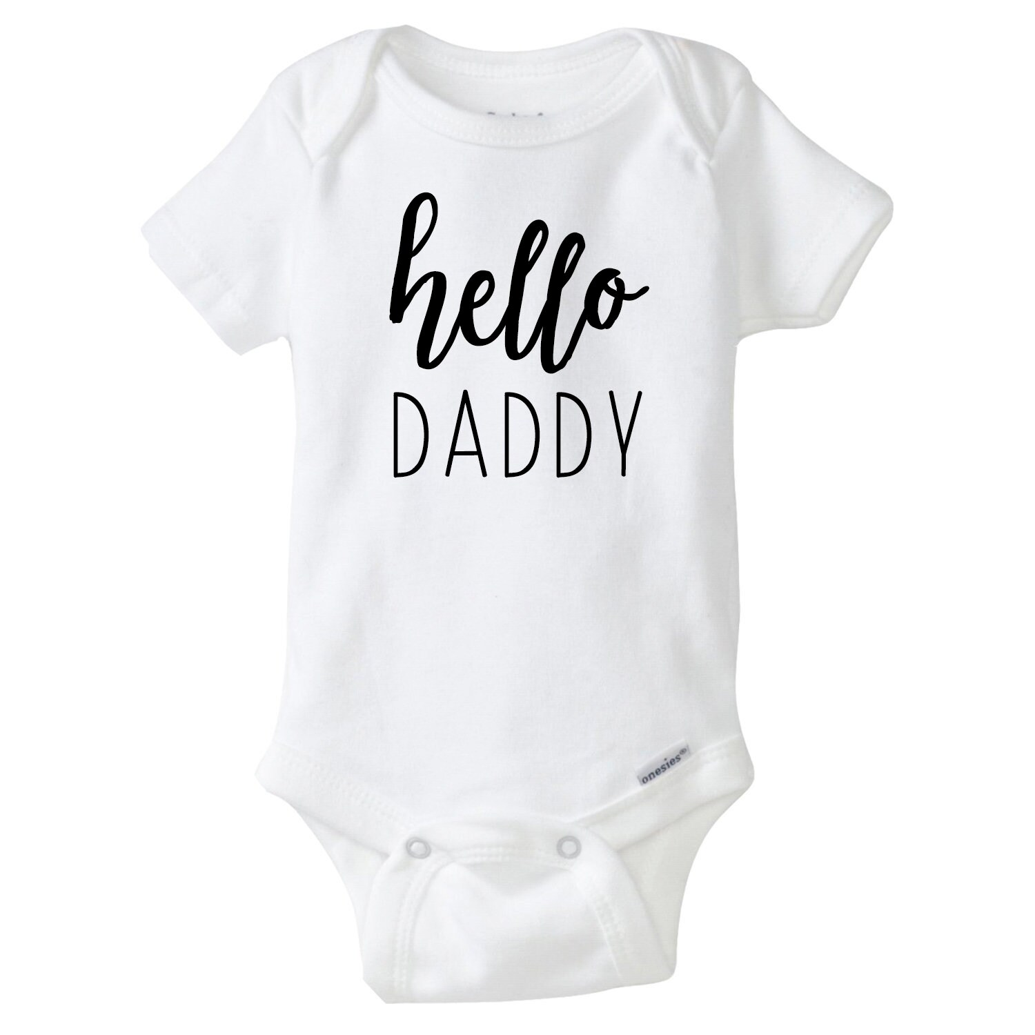 935ab617b Hello Daddy Baby Onesie, Pregnancy Announcement Onesies®, Baby Announcement,  Pregnancy Reveal to Husband, Going to be a Dad