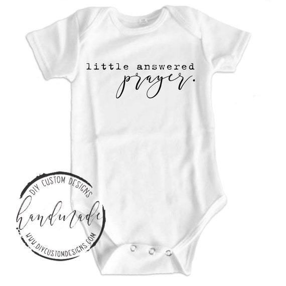 Coming Home Outfit Little Answered Prayer Baby Onesies\u00ae Baby Announcement Baby Shower Gift Newborn Baby Bodysuit