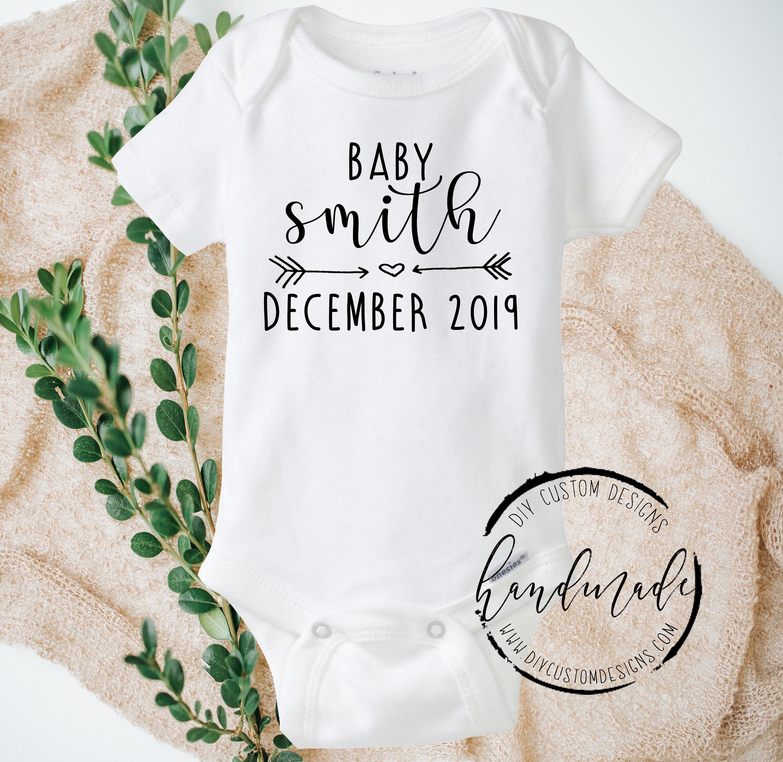 Baby Announcement Onesies®, Pregnancy Reveal, Pregnancy ...