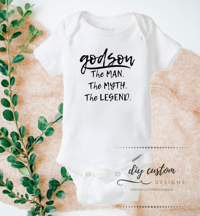 77f9af81c Godson Baby Onesies® Godson Gift Baptism Gift Godson First | Etsy