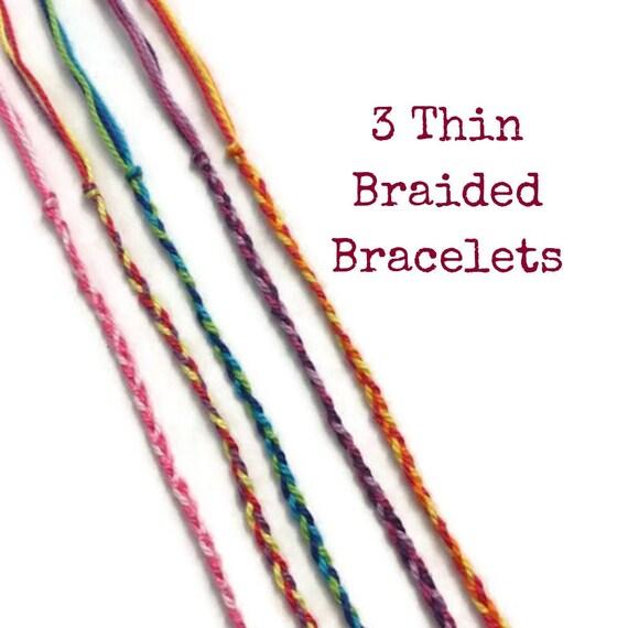 Style classique convient aux hommes/femmes nouvelle collection 3 Thin Braided Bracelets, Friendship Bracelets, String Bracelets, Ultra  Thin Thread, Thread Bracelets, Bulk Bracelets, Woven, Braid