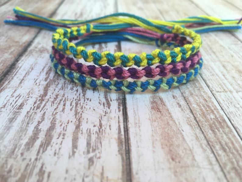 Best Friend Friendship Bracelet Set Friendship Bracelets Bulk Bracelets Double Chain Knot Bracelets Thread Bracelet 5 String Bracelets