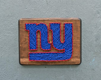 NY Giants String Art New York Sports Decor Mancave Gifts For Her Him Wood Wall Football Bday