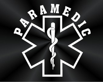Paramedic Decals, Medical, Car, Truck, Wall, Vinyl Window Stickers 10808