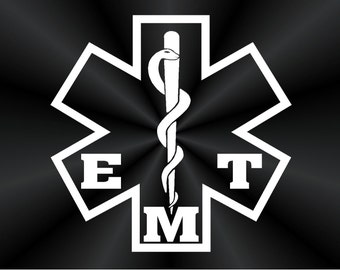 EMT Decals, EMS, Car, Truck, Wall, Vinyl Window Stickers 10681
