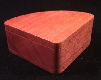 Pink Ivory Wood box  #B82
