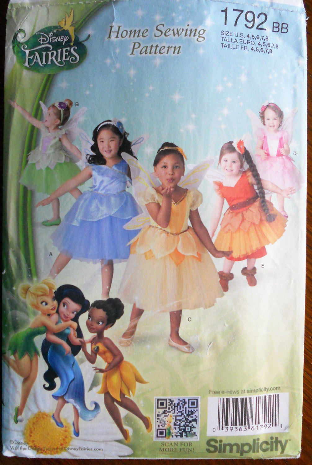 Disney Fairies. Disney Fairies Pattern. Sizes 4-8 Child. Dance Costumes. Halloween Costume. Fairy Costume With Wings. Sc 1 St Etsy Studio  sc 1 st  Germanpascual.Com & Disney Fairy Costumes u0026 Disguise Womenu0027s Disney Fairies ...