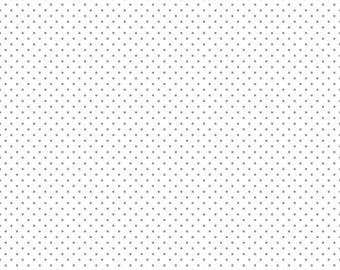 Riley Blake Sparkle Swiss Dot Silver (Half metre)