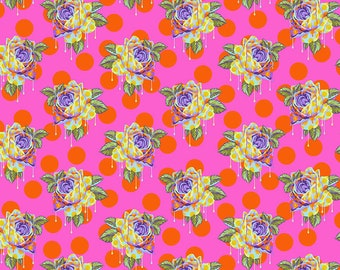 Tula Pink for Free Spirit - Curiouser and Curiouser - Painted Roses Daydream (Half metre)