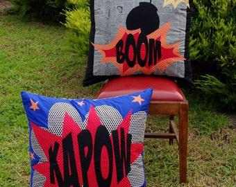 Matching Pegs - Comic Cushion - Sewing Pattern - Applique Pattern