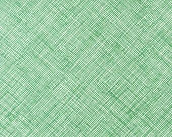 Robert Kaufman Architextures Crosshatch Fern Green (Half metre)